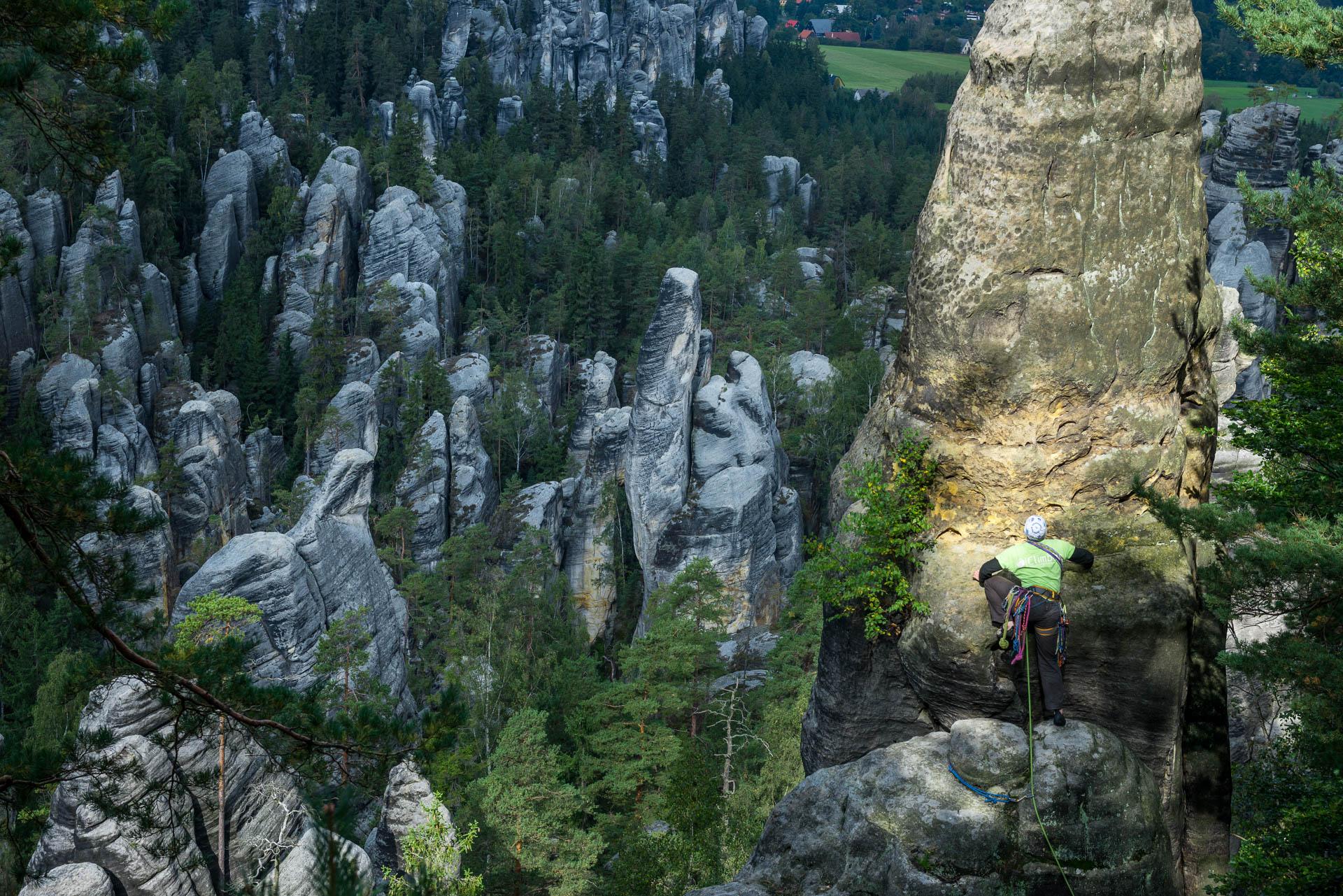 Adrspach Tsjechië klimmen