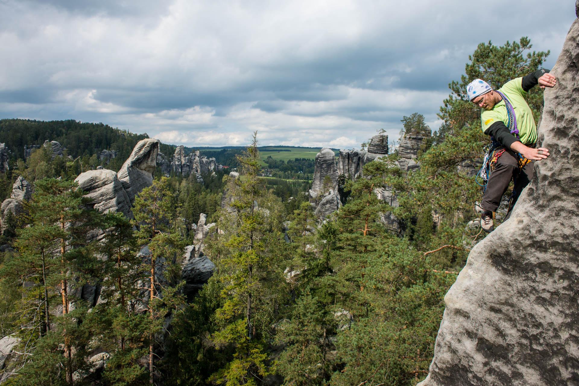 Adrspach Tsjechië klimmen, publicatie BLOK Blad Over Klimmen, Frank Penders fotograaf