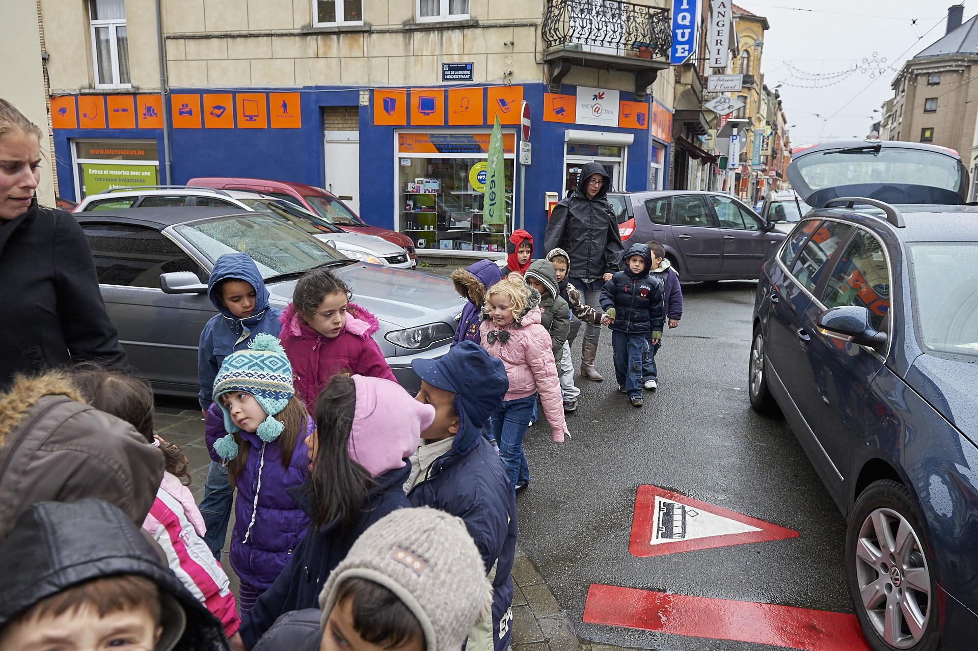Schaerbeek, Brussel, kinderen op straat, fotografie ,Frank Penders