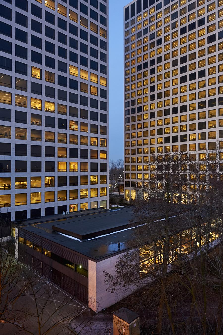 Rotterdam, Marconiplein, torens, Muelink en Grol, architectuur, Frank Penders, fotografie