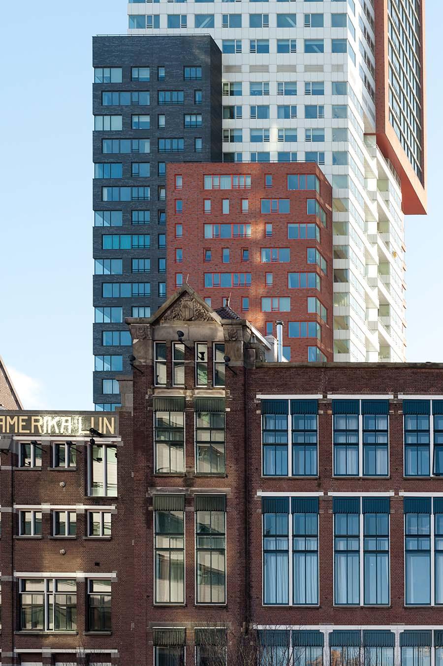 Rotterdam, kop van zuid, Montevideo, hotel New York, architectuur, fotografie, Frank Penders, Muelink en Grol,
